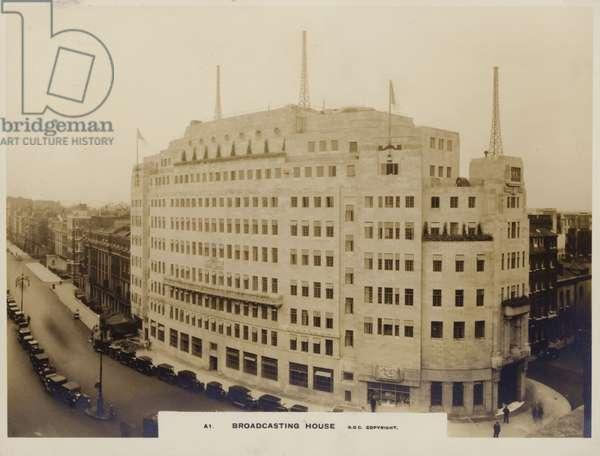 Broadcasting House (b/w photo)