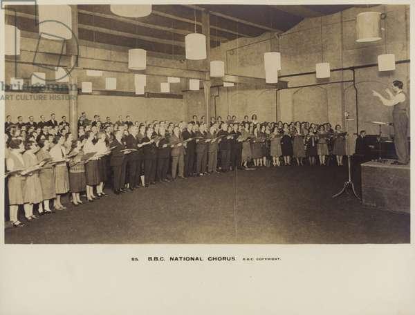 BBC National Chorus (b/w photo)