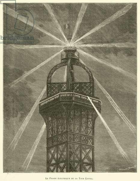 Le Phare electrique de la Tour Eiffel (engraving)