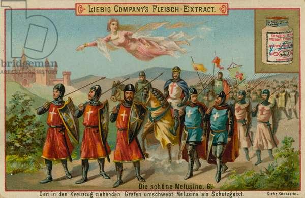 Melusine and the Crusaders (chromolitho)