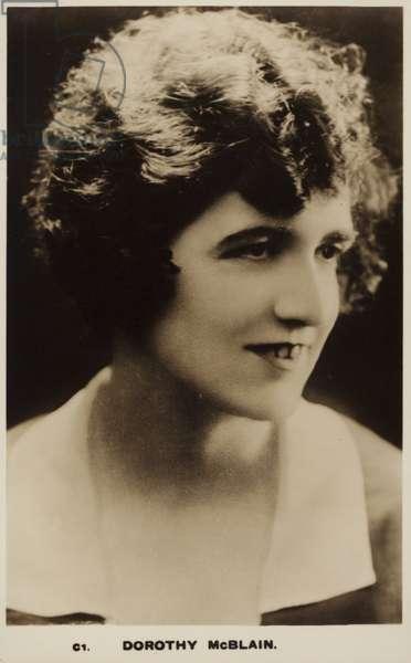 Dorothy McBlain (b/w photo)
