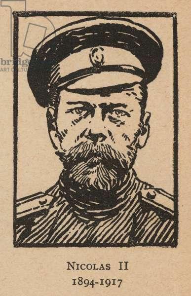 Tsar Nicholas II of Russia (litho)