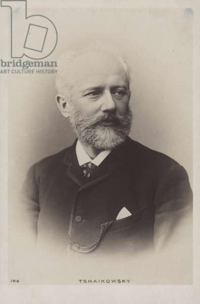 Pyotr Ilyich Tchaikovsky, Russian composer (b/w photo)