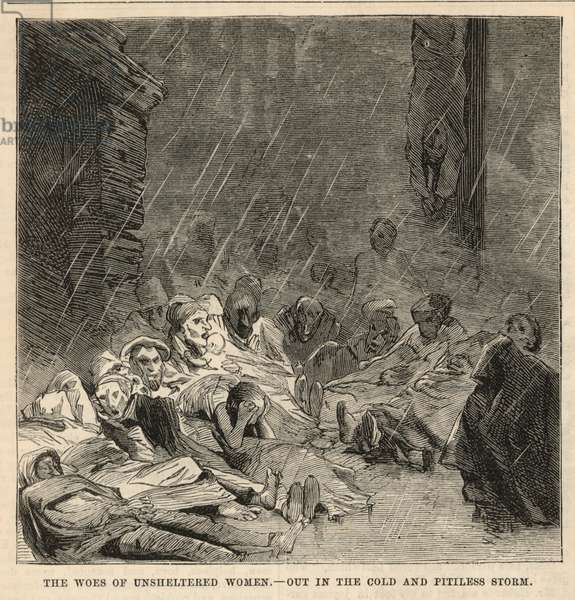 Out in the cold and pitiless storm (engraving)