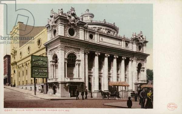 Willis Wood Theatre, Kansas City, Missouri, USA (coloured photo)
