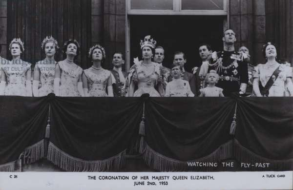 The coronation of her majesty Queen Elizabeth, 2 June 1953 (b/w photo)
