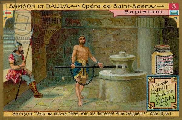 Samson in Chains (chromolitho)