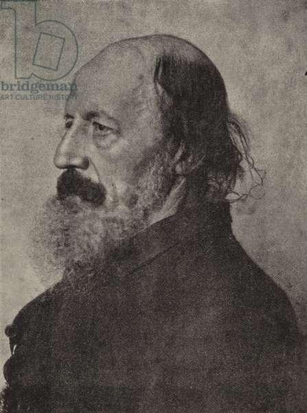 Lord Tennyson, Poet Laureate (b/w photo)