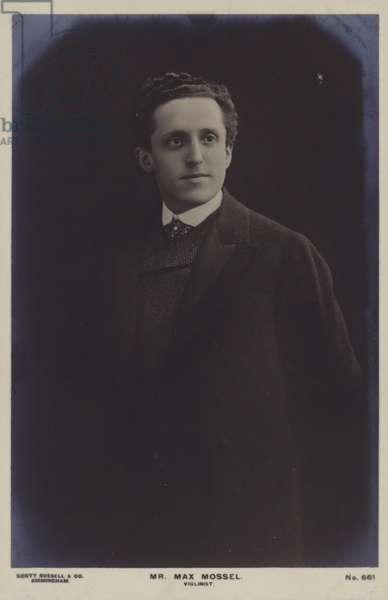Max Mossel, Dutch violinist (b/w photo)