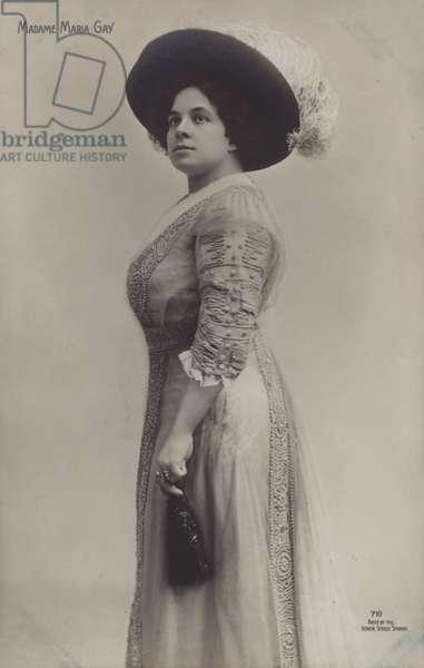 Maria Gay, Spanish opera singer (b/w photo)