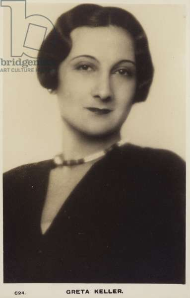 Greta Keller (b/w photo)