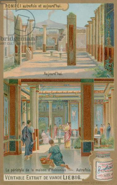 Peristyle (colonnade) in the house of Holconius (chromolitho)