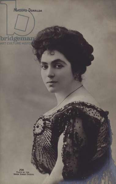 Pauline Donalda, Canadian operatic soprano (b/w photo)
