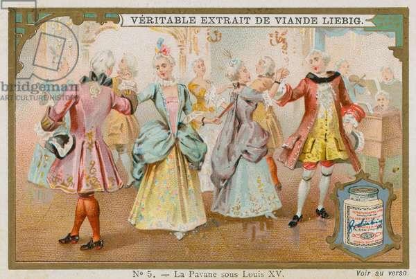 The Pavane Under King Louis XV (chromolitho)