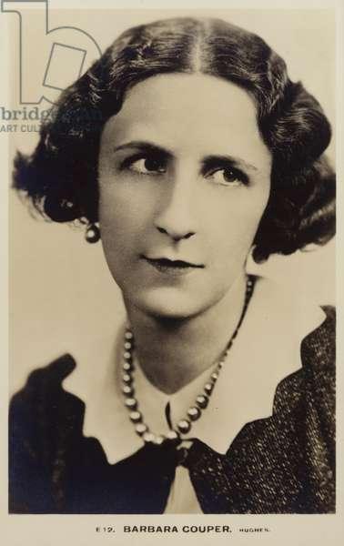 Barbara Couper (b/w photo)
