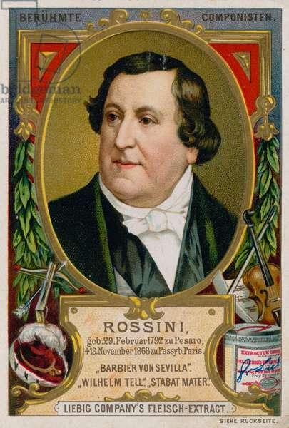 Gioachino Rossini (chromolitho)