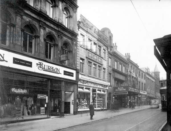 Burton Menswear Store, Briggate, Leeds, 1938 (b/w photo)