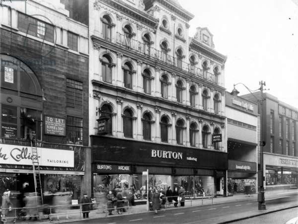Burton Menswear Store, Imperial Hotel Building, Briggate, c.1960 (b/w photo)