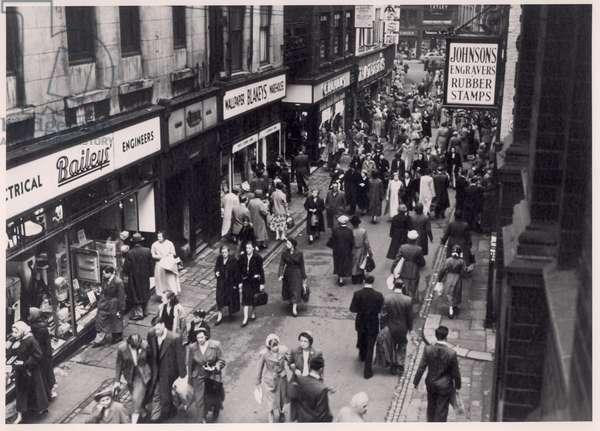 View of shoppers in Trinity Street, Leeds, 1956 (b/w photo)