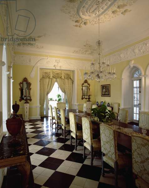 View of the dining room (photo)