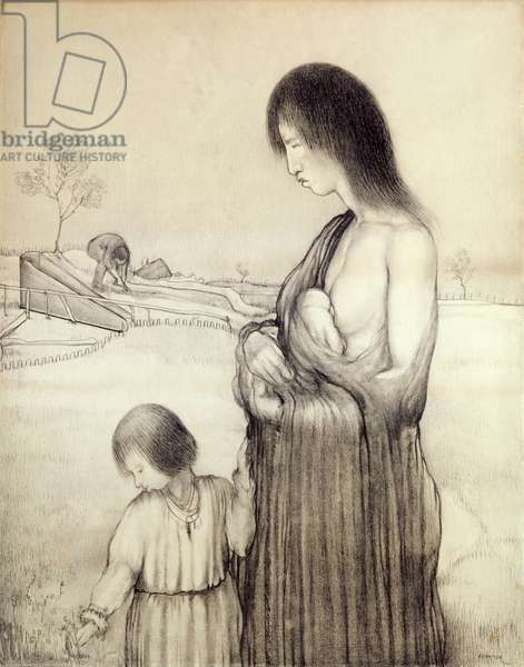 Mother and Child, 1914 (pencil on paper)
