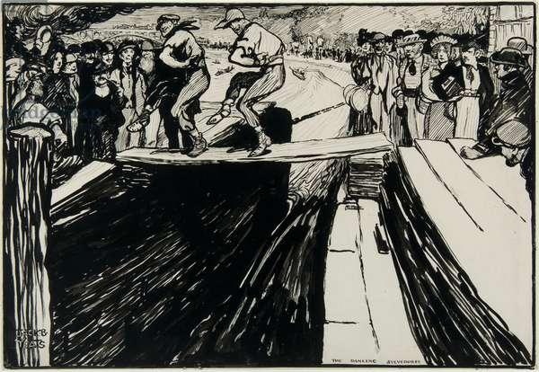 The Dancing Stevedores, c.1900 (ink on paper)