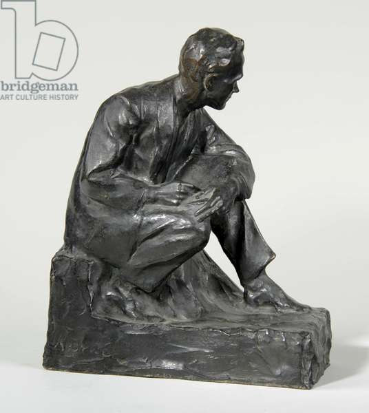 Statuette of Charles Shannon, c.1910 (bronze) (see also 876032)