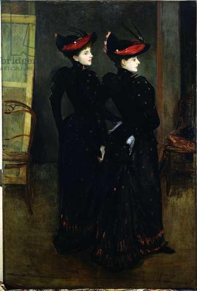 The Savile-Clark Girls (oil on canvas)