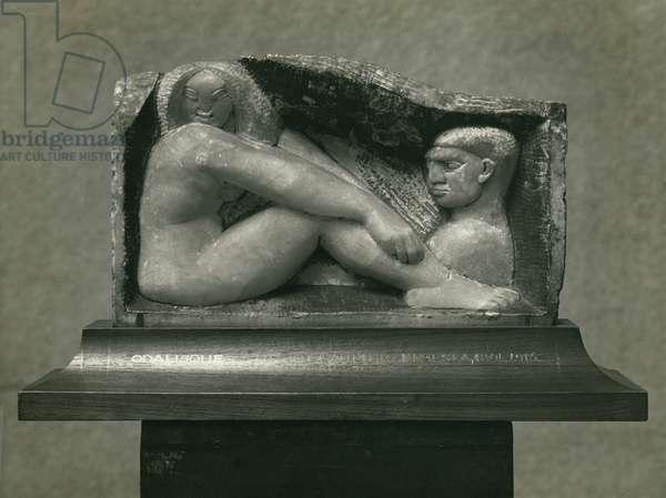 Odalisque (Man and Woman) 1912-13 (alabaster)