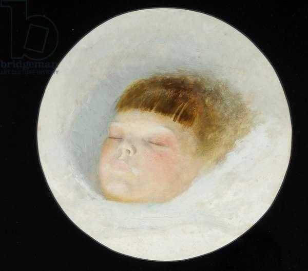 Head of Gertrude Grimshaw, 1874 (oil on card)