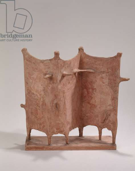 Maquette for Four Standing Figures, 1952 (pink plaster)