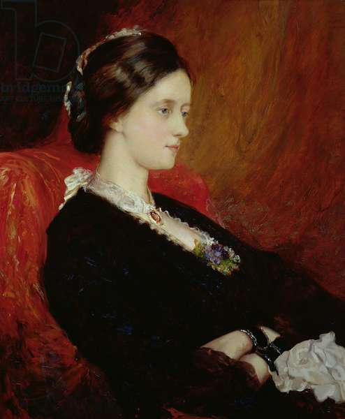 Portrait of The Hon. Mrs Emily Meynell-Ingram (1840-1904) 1884 (oil on canvas)