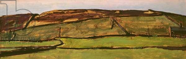 Crowe Hill II (Crowe Triangle) (oil on board)