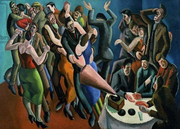 The Dance Club, or The Jazz Party, 1923 (oil on canvas)
