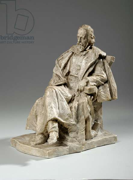 Maquette for Alfred, Lord Tennyson seated at Trinity College, Cambridge, c.1909 (plaster)
