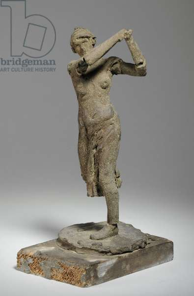 Maquette for the Figure of a Woman Golfer (plasticine)