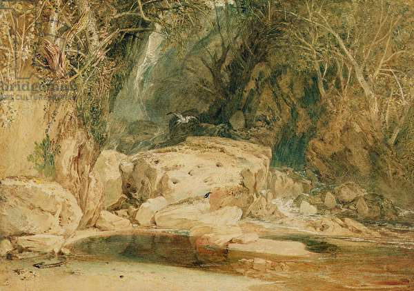 Lonely Dell, Wharfedale, c.1818 (w/c on paper)