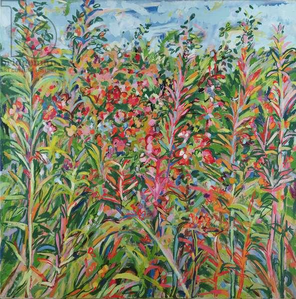 Landscape at Pyles Copse (oil on canvas)