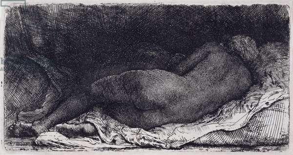 Negress Lying Down, 1658 (engraving)