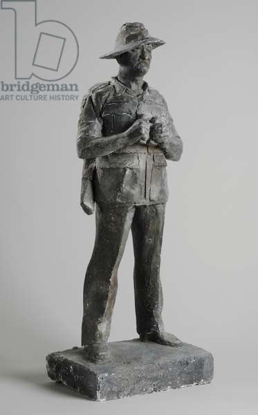 Model for statue of Field Marshal Viscount Slim, 1987-90 (plaster) (see also 876200-2)