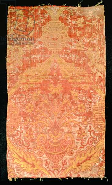 Silk and linen furnishing, 1550-1600 (brocatelle weave)