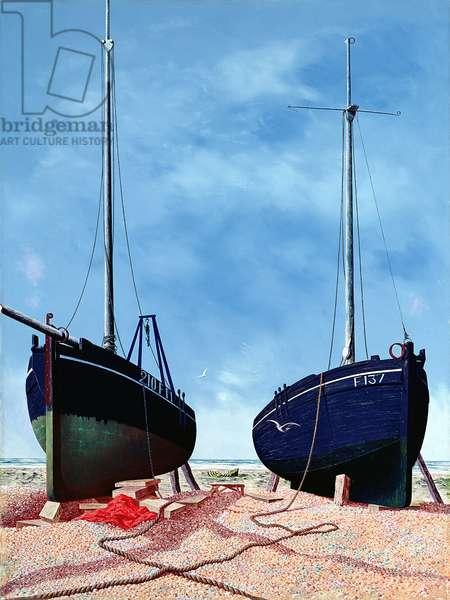 Whitstable Oystermen, 1948 (oil on canvas)