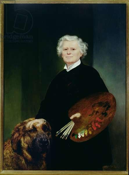Portrait of Rosa Bonheur (1822-1899) (oil on canvas)