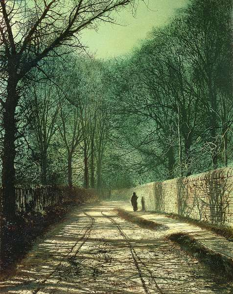 Tree Shadows on the Park Wall, Roundhay, Leeds, 1872 (oil on canvas)