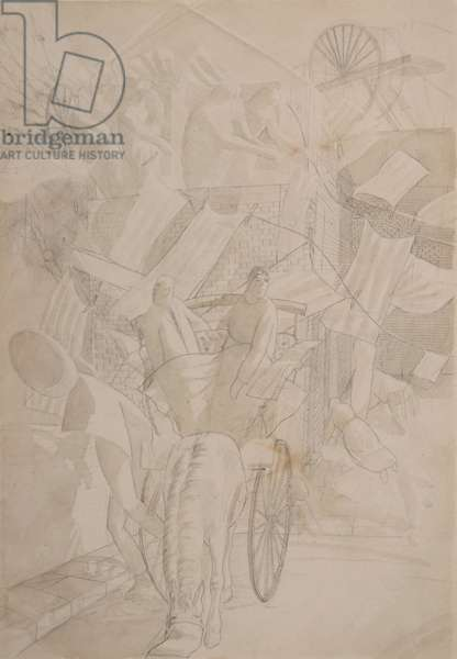 Study for the Leeds Decoration, 1920 (graphite & wash on paper)