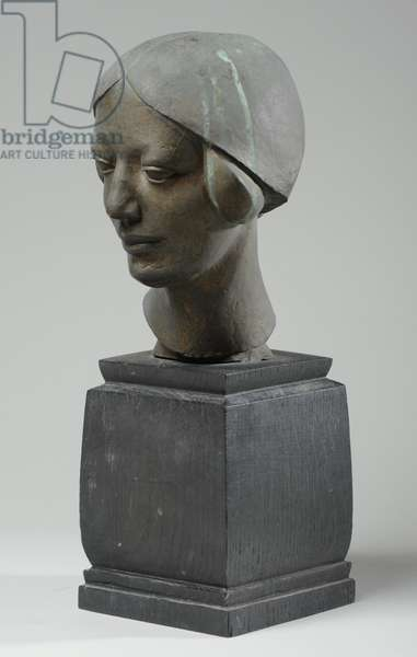 Bust of Winifred Monnington, c.1926-27 (bronze) (see also 876141-3)