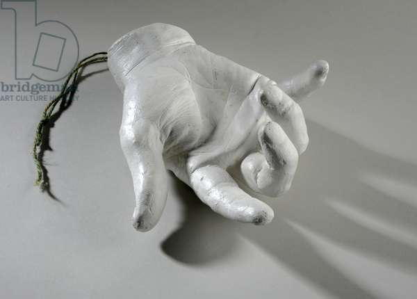 Cast of a right hand (plaster)