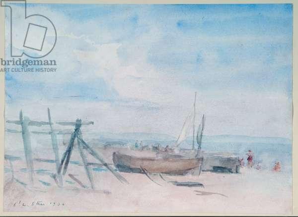 Low Tide, Walmer Beach, 1934 (w/c on paper)