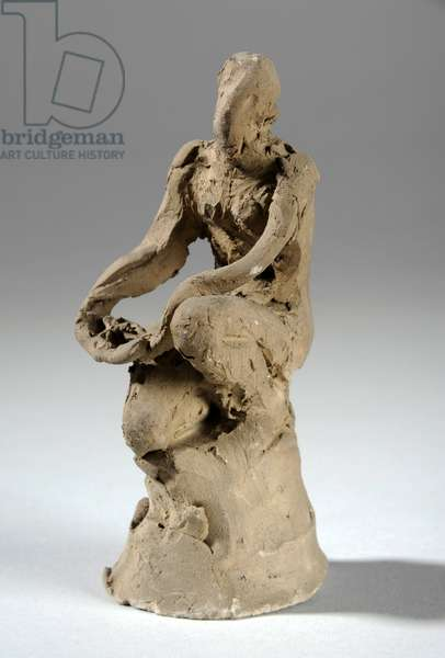 Maquette for a crouching female figure (clay)