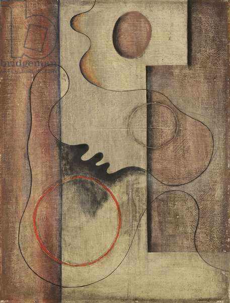 Abstract Composition, c.1936 (oil on board)